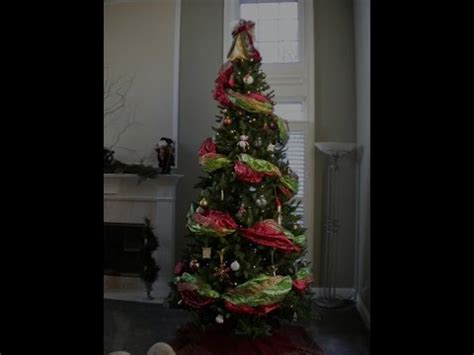 how to decorate a christmas tree with deco poly mesh | doovi