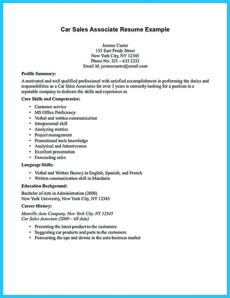 how to write a sales resume with no experience 17 best ideas about sales resume on marketing