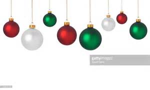 green and decorations dangling green and white ornaments stock