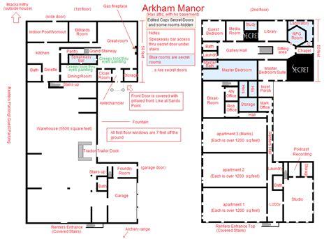 Floor Plans Secret Rooms by Arkham Manor Basic Floorplan By Vonmeer On Deviantart