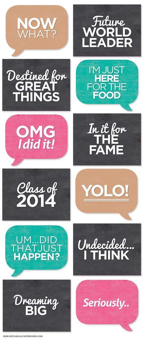 printable photo booth quotes 111 best images about graduation free printable and more
