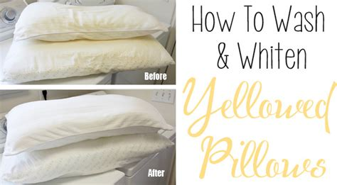 Remove Yellow Stains From Pillows how to wash and whiten yellowed pillows herbs info