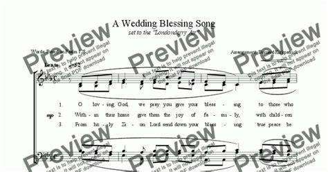 Wedding Blessing Hymns by An Wedding Blessing Hymn Sheet