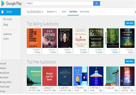 Play Store Books Rolls Out Audiobooks On Play Store In India