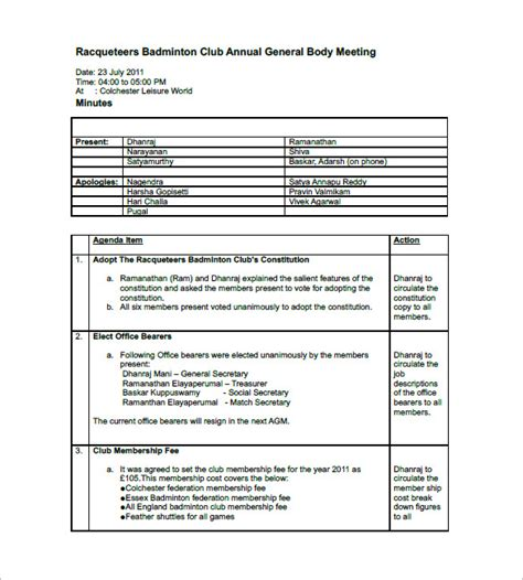 minutes of meetings template gse bookbinder co