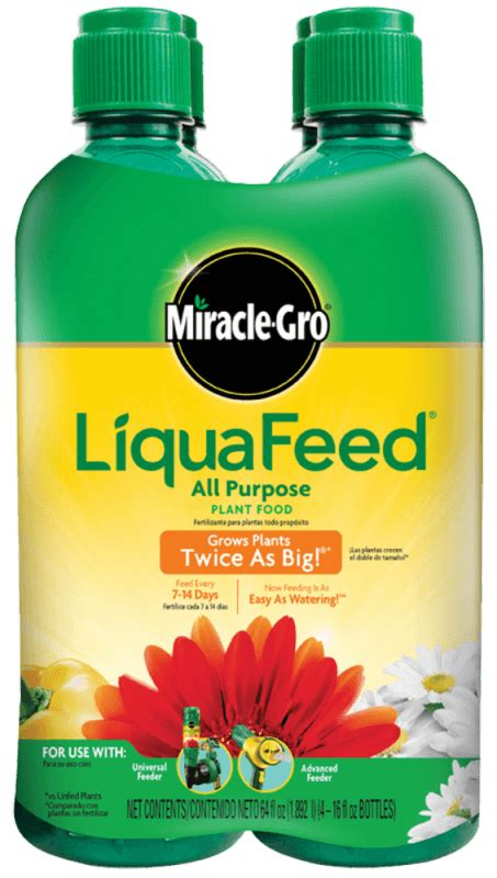 miracle gro liquafeed plant food refill bottles plant
