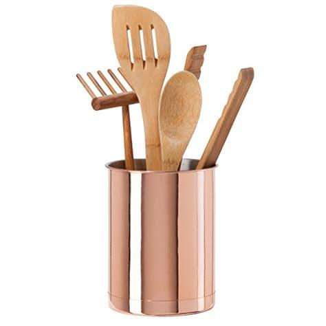 Copper Kitchen Utensil Holder by Oggi 7059 12 Copper Plated Stainless Steel Utensil Holder