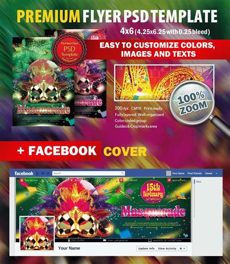 buy flyer templates masquerade psd flyer template 5471 styleflyers