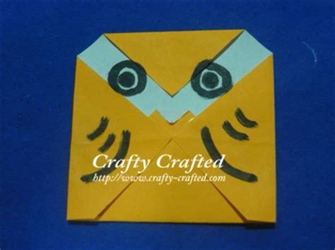 Easy Origami Owl - crafty crafted 187 archive crafts for children