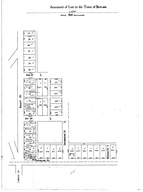 butler county section 8 butler village tax map 1920