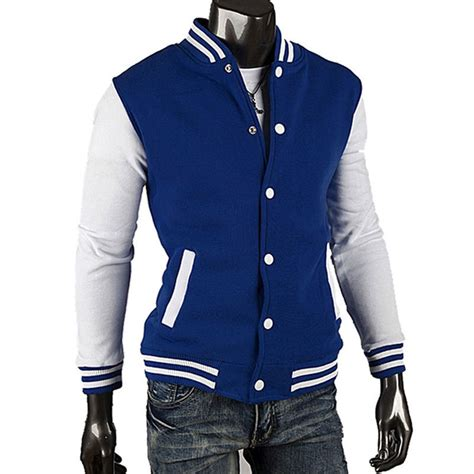 Jaket Sweater Jaket Clasic Basseball free shipping 2015 fashion classic mens slim fit hoodies college baseball jacket 8 color in