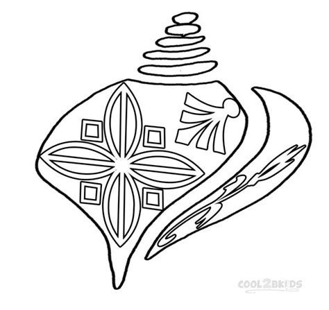 seashell color printable seashell coloring pages for kids cool2bkids