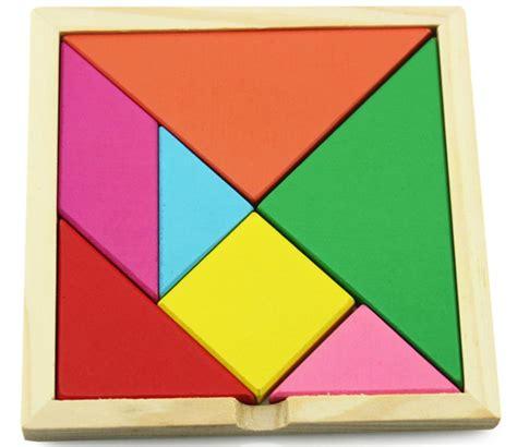 Puzzle Kayu Tangram mainan puzzle tangram kreatifitas multi color