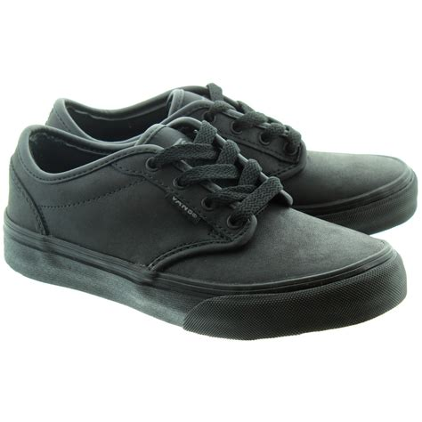 vans atwood lace shoes in black in black