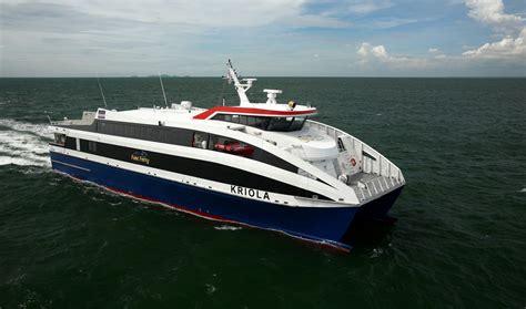 fastest catamaran ferry damen fast ropax ferry 4512 quot kriola quot deliveries damen