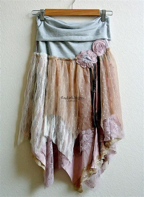 shabby chic skirts reserved for amyhodgepodge one of a bohemian hobo