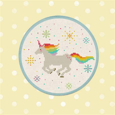unicorn cross stitch pattern sparkly rainbow unicorn cross stitch pattern best seller