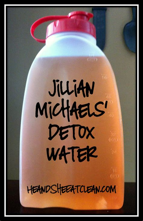Julian Michales Detox by Jillian Detox Water He She Eat Clean