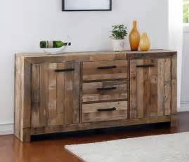 This stylish sideboard buffet cabinet is made from reclaimed wood