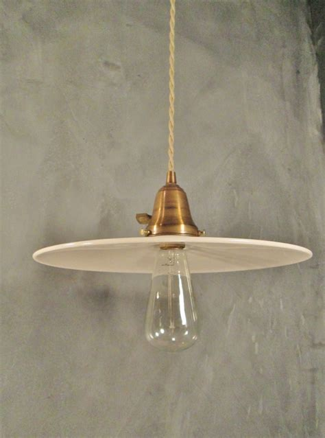 Opal Glass Pendant Light Industrial Pendant Light With Opal Glass Shade 183 Dw Vintage Lighting Co 183 Powered