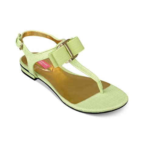 isaac mizrahi sandals isaac mizrahi new york 2 flat sandals in green