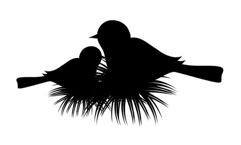 Housedesigners by Download Free Bird Nest Silhouette Vector Illustration