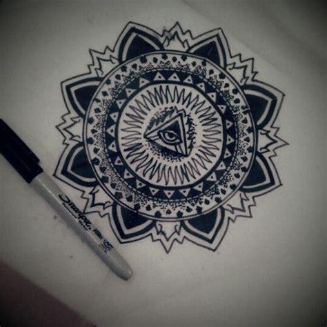 tattoo mandala eye all seeing eye mandala body art pinterest all