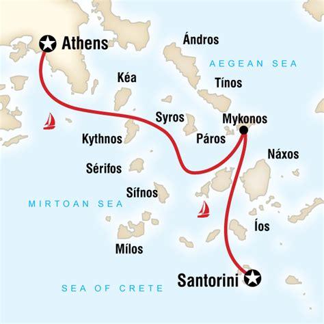 sailing greece routes sailing greece athens to santorini in greece europe g