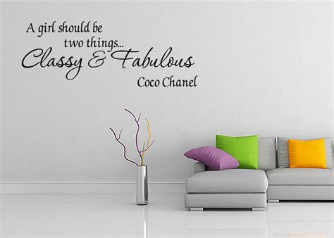 coco chanel wall stickers and fabulous coco chanel vinyl wall quote decal home decor wall sticker