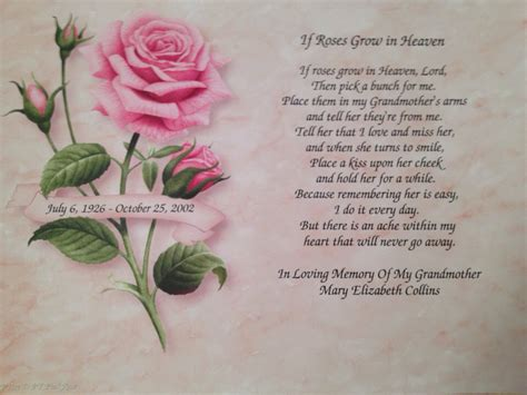Deceased Grandmother Birthday Quotes Sympathy Gift Grandmother Personalized Gift By