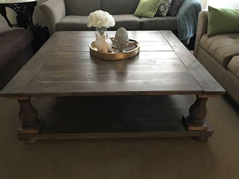 ana white large square balustrade coffee table diy