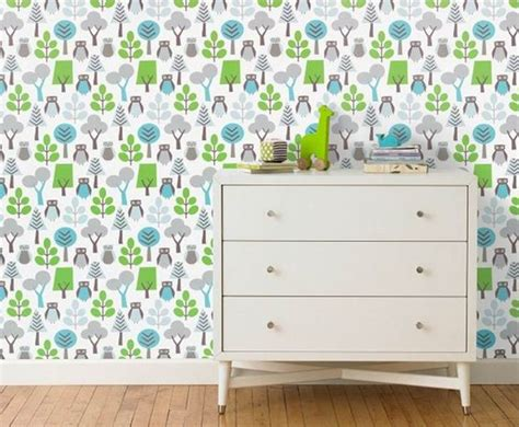 owl bedroom wallpaper eco friendly wallpaper from dwell studio breathes new life