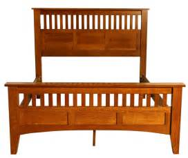 Mission Style Bed Frame Custom Made Mission Style Black Walnut And Hickory Size Bed Bed Frame Solid Wood Nomad 2