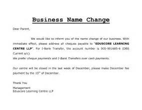 Business Letter Template Company Name Change Best Photos Of Name Change Letter Template Company Name