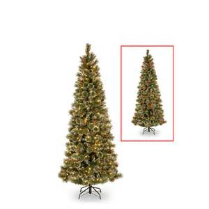 prelit artificial christmas tree crystal elegance pine 4