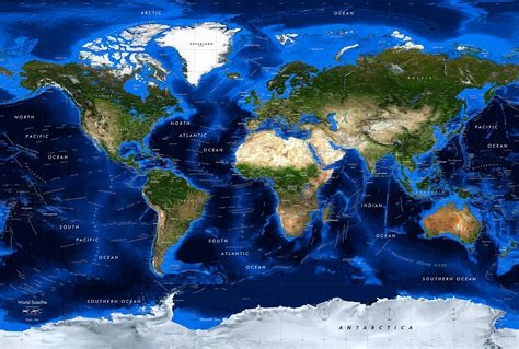 map of the world satellite detailed world topography bathymetry satellite image map