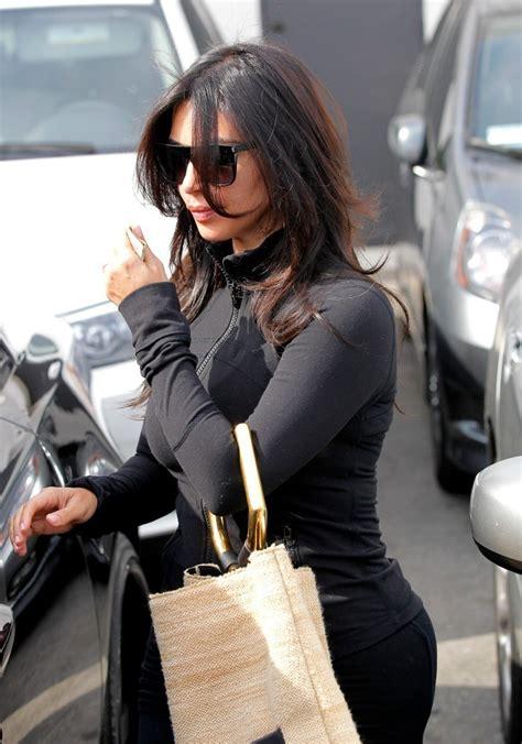kim bellamy hair stylist kim kardashian leaves the hair salon zimbio