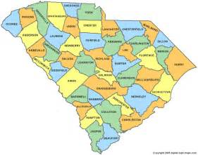 south county map south carolina county map sc counties map of south