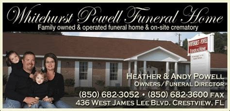 christians in business whitehurst powell funeral home