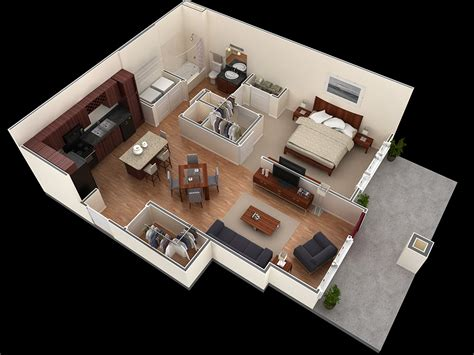 bedroom houseapartment plans