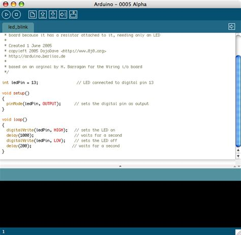code arduino blink arduino howto