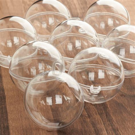 Bulk 60mm Acrylic Fillable Keepsake Ball Ornaments