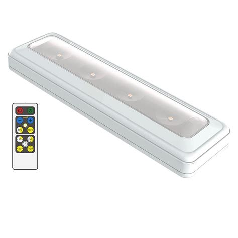 wireless cabinet lights with remote brilliant evolution led white wireless cabinet light
