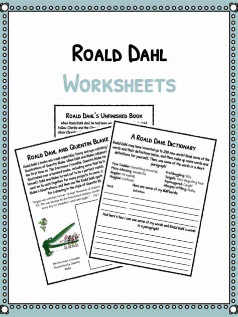 20 awesome roald dahl timeline worksheet pictures