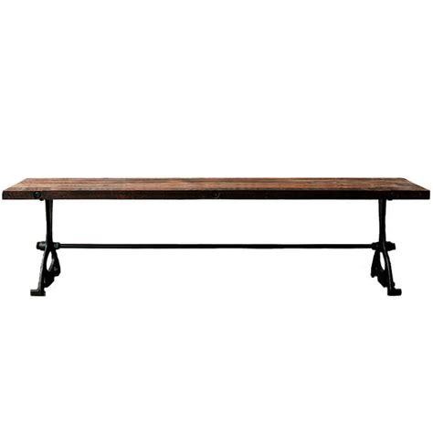 dining table with benches modern v32 modern dining bench reclaimed hardwood