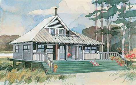 Southern Living Coastal House Plans | beach bungalow print coastal living house plans