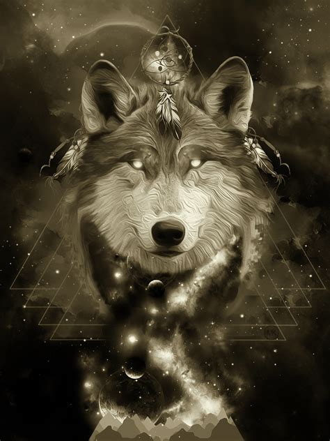 mystical images mystical wolf by maniakuk on deviantart