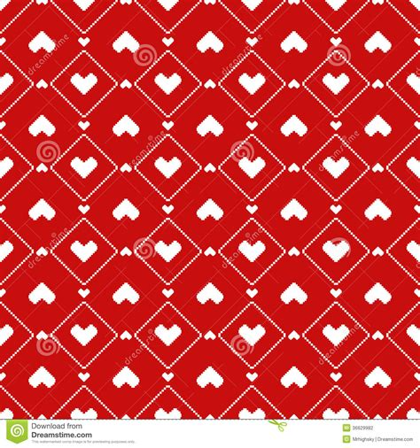 seamless pattern with hearts pixel hearts seamless pattern stock photography image