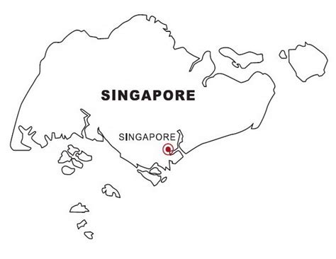 singapore map drawing