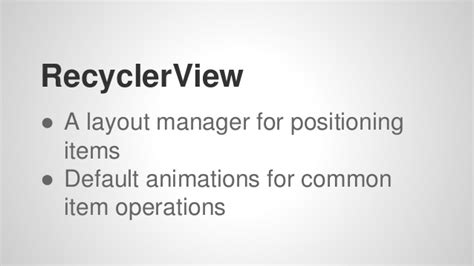 recyclerview layout manager exle material design in android